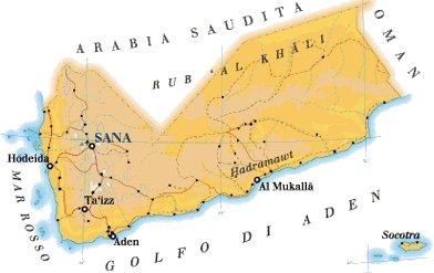 Cartina Yemen.Yemen Rayan Services